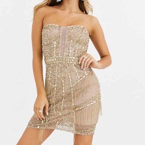 Mini sequin embellished dress NYE dress